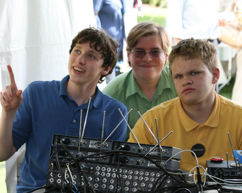 Sound Crew readies equipment for Parents Weekend