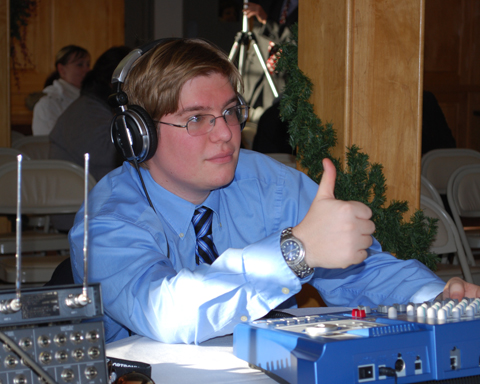 Sound Crew handles the Holiday Concert