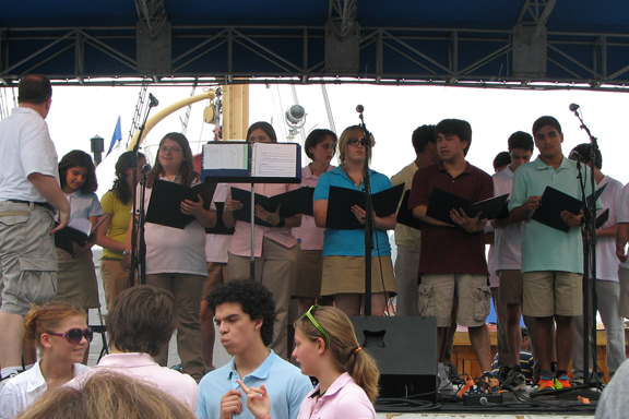 The Glenholme choral group prepares for their performance at Autism Speaks' 5K Walk in NYC on June 13.
