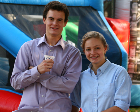 Students enjoy the carnival