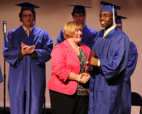 Ms Murphy awarded a diploma