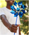 Devereux Goes Blue - Pinwheel
